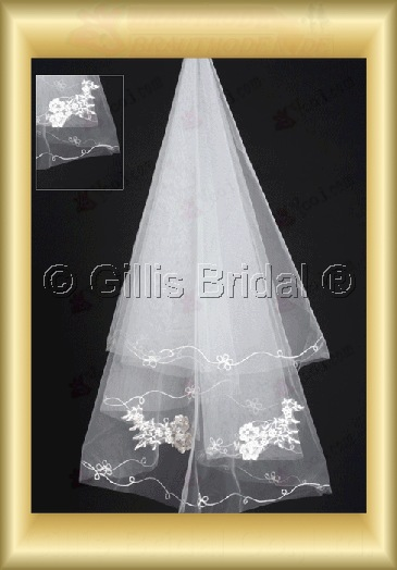 Applique appliqued appliques Veil Bridal Accessories Bridal Veils 4058