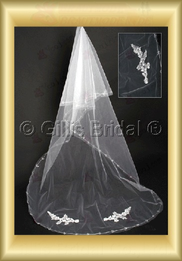 Applique appliqued appliques Veil Bridal Accessories Bridal Veils 4060