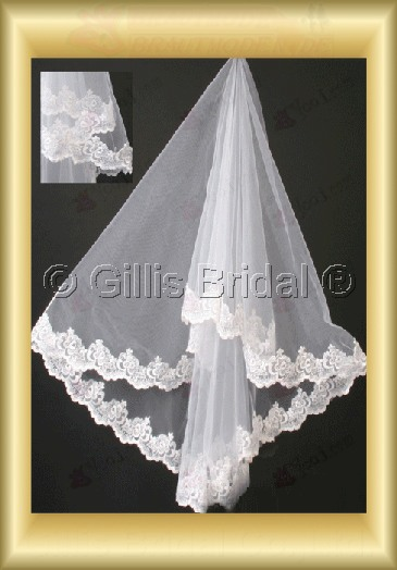 Applique appliqued appliques Veil Bridal Accessories Bridal Veils 4089