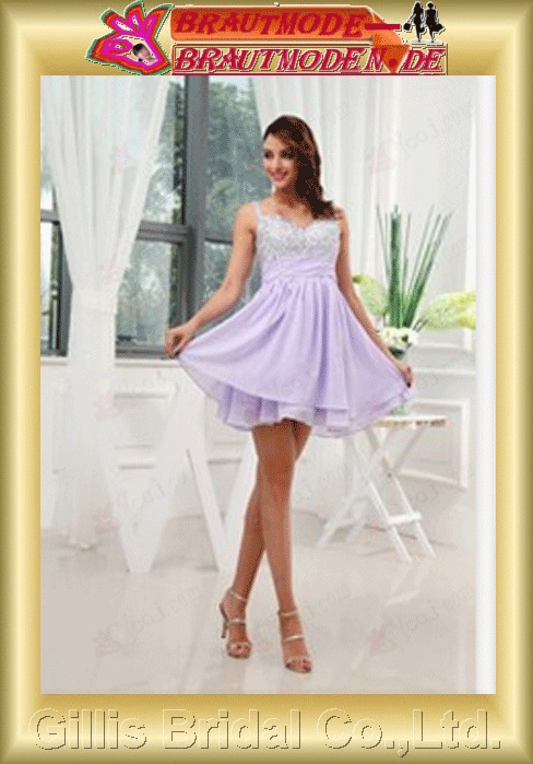 modest prom dress prom dresses pageant dress Grape Lavender Lilac bridesmaid Beading embroidery Knee length gillis800080