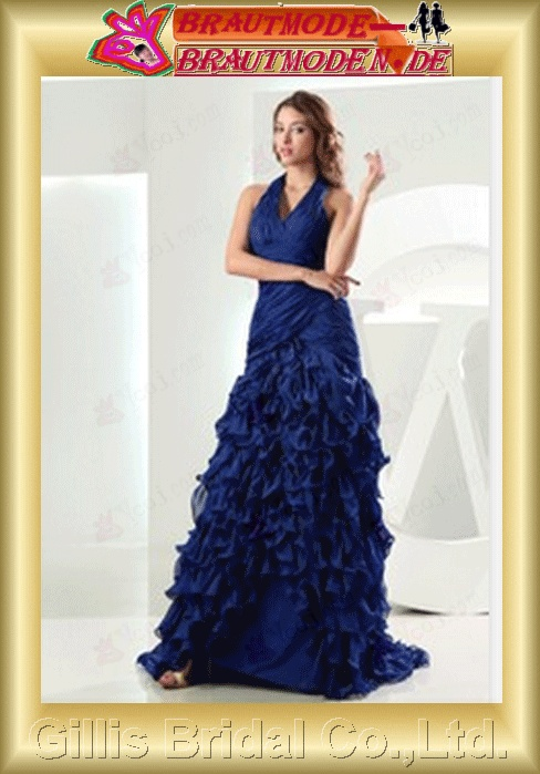 ruffle prom dress Colors As shown in figure floating tablets Taffeta Halter gillis800091