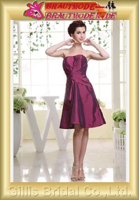 Dresses homecoming ruffle Colors As shown in figure bridesmaid evening Beading embroidery Taffeta Knee length gillis800118