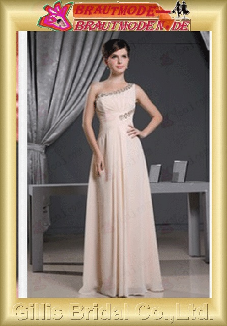 Bridesmaids One-shoulder Strapless Dresses ruffle Colors As shown in figure bridal gown evening gillis800176