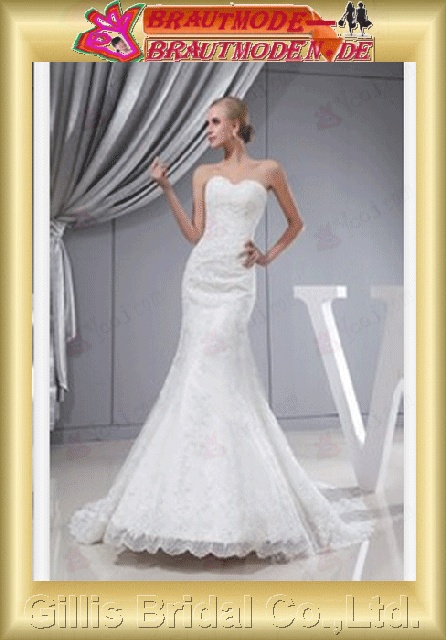 Taffeta Alencon lace beads Embroidery beaded Beading embroidery bandage strapless Mermaid mermaid backless Open back Exquisite elegant modest elegant Strapless Wedding Dresses Strapless bridal gowns White gillis800364