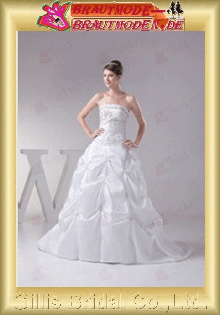 A-line New style Simple Exquisite elegant modest elegant A-line bridal gowns A-line wedding dresses Strapless Wedding Dresses Strapless bridal gowns White gillis800384