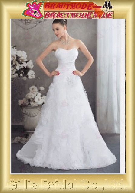 backless Open back Exquisite Simplen Fashion modest elegant A-line bridal gowns A-line wedding dresses Strapless Wedding Dresses Strapless bridal gowns backless wedding dress ruffle White Beading embroidery 800405