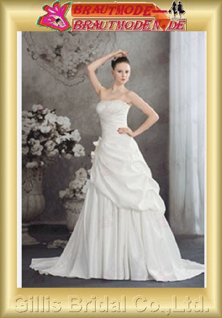 Monarch Royal A-line bandage A-line New style Exquisite elegant modest elegant A-line bridal gowns A-line wedding dresses Strapless Wedding Dresses Strapless bridal gowns ruffle White 800427