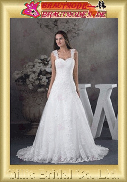 Voile Satin Charmeuse pleated ruffle Fold Vertically Draped beads Embroidery beaded Beading embroidery bandage Off-the-shoulder Monarch Royal A-line backless Open back Exquisite Simple elegant modest A-line bridal gowns A-line wedding dresses White 800428
