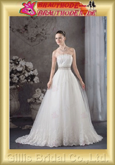 bandage strapless Monarch Royal A-line backless Open back Simple Exquisite modest elegant A-line bridal gowns A-line wedding Strapless Wedding Dresses Strapless bridal gowns backless wedding dress White 800445