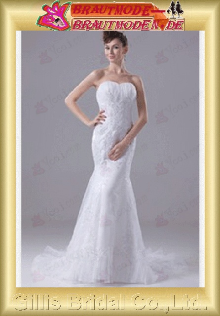 Taffeta Organza pleated ruffle Fold Applique appliqued appliques beads Embroidery beaded Beading embroidery Zip strapless Mermaid mermaid Simple Exquisite Fashion elegant modest Strapless Wedding Dresses Strapless bridal gowns Mermaid gillis800491
