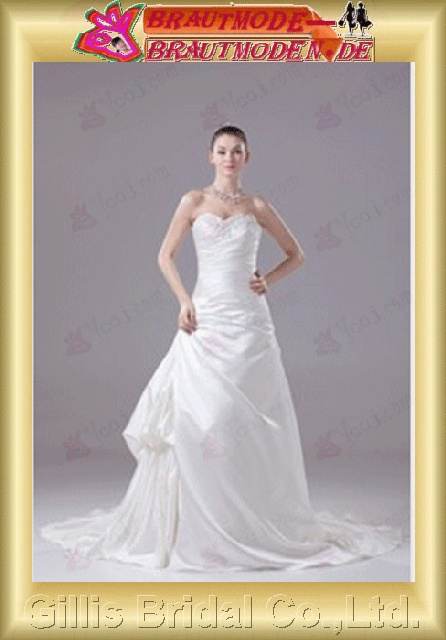 elegant Strapless Wedding Dresses Strapless bridal gowns A-line bridal gowns A-line wedding dresses White 800493 Gillis bridal Wholesale - Wedding Dress Sold by Gillis Bridal Co., Ltd. gillis800493