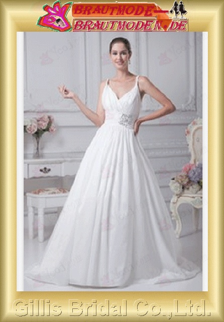 Taffeta pleated ruffle Fold beads Embroidery beaded Beading embroidery Zip Sweep Brush Simple Exquisite Fashion elegant elegant A-line bridal gowns A-line wedding dresses ruffle White 800513