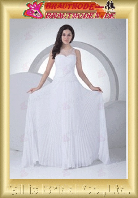 Chiffon pleated ruffle Fold Off-the-shoulder Sweep Brush A-line Simple Exquisite Fashion elegant modest elegant A-line bridal gowns A-line wedding dresses ruffle White 800531