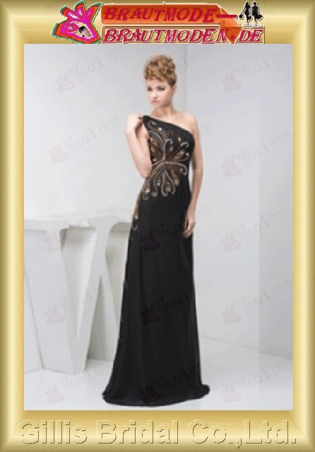 Chiffon beads Embroidery beaded Beading embroidery One-shoulder Strapless One-Shoulder Floor length Floor-length A-line backless Open back Simple Exquisite Fashion elegant modest elegant prom dresses evening dresses prom dress prom dresses 800674