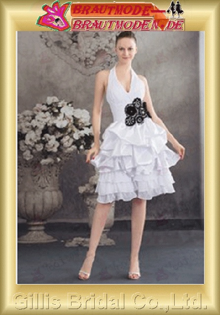 Chiffon Taffeta pleated ruffle Fold Fold Bubble beads Embroidery beaded Beading embroidery Handcraft flowers Handmade Flower Halter Off-the-shoulder Short dress backless Open back Simple Exquisite Fashion elegant modest elegant dresses 800858