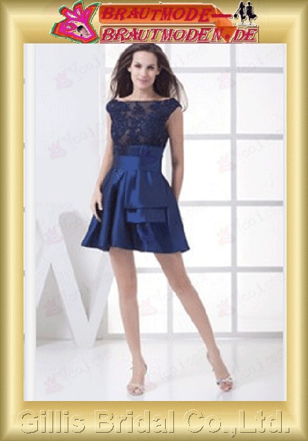 Taffeta lace pleated ruffle Fold Vertically Draped beads Embroidery beaded Beading embroidery Zip Off-the-shoulder Short dress A-line Simple Exquisite Fashion modest elegant prom dresses evening dresses Ball Gown Party Dresses ball Ball 800914