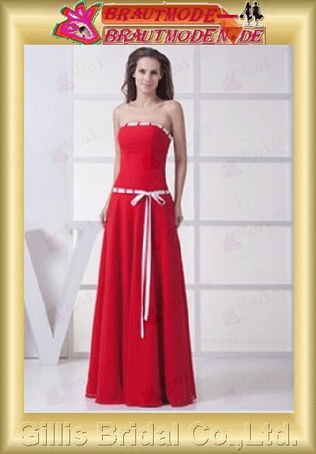 Chiffon strapless Long dress Floor-length A-line backless Open back Simple Exquisite Fashion elegant modest dresses prom dresses evening dresses prom dress ball Ball Gown Prom Dresses Ball Gown prom dresses Red 800916
