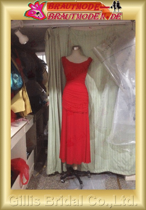 Chiffon pleated ruffle Fold Off-the-shoulder Long dress Floor-length backless Open back Exquisite Simple dresses Exquisite evening dresses Ball Gown Party Dresses ball Ball Gown Prom Dresses Ball Gown prom dresses Special Occasion Red 801284